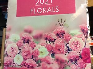 2021 SQUARE WALL  ( 30cm x 30cm ) CALENDAR NEW  SEALED FLORALS