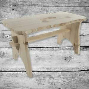 Plain Pine Wooden Stool for Craft|395 x 190 x 210 mm|Kids Foot Step Small Chair