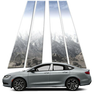 4p Stainless Pillar Post Covers fits 2015-2021 Chrysler 200 by Brighter Design