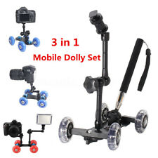 Table Camera Video Wheels Rail Rolling Track Slider Mobile Dolly Car Glide Set