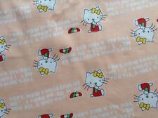 Sewing Fabric Patchwork Quilting HELLO KITTY PEACH BACKGROUND by the metre