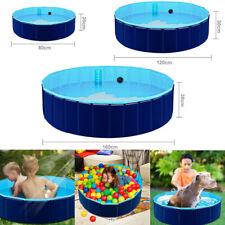 Profi Faltbar Hundepool Doggy Pool Swimmingpool Ø80/120/160cm Rot Blau Grün pool