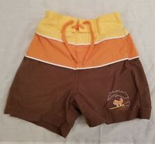 Janie And Jack Lizard Toddler Size 6-12 M Brown Orange Board Shorts Swim Trunks