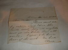 1883 FUN LETTER FROM DAUGHTER TO FATHER LOOKING FOR MONEY