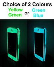 iPhone 5 * Matte * Glow  in the dark Sticker Front & Edge for iPhone 5