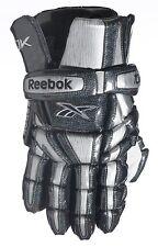 "New Reebok 10K lax gloves size M medium 12"" inch silver Brand Nwt lacrosse glove"