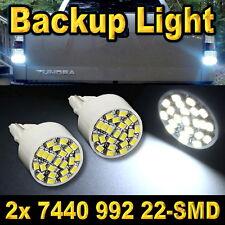 Pair 7440 22-SMD LED Back Up Reverse LED Light Bulb T20 7441 7444 992 992A White