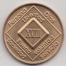 18 Anos XVIII - Narcoticos Anonimos recuparse medalla ficha moneda