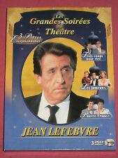 THEATRE Jean LEVEBVRE (Trois coups/rire-Les jumeaux-Pauvre France) 3 DVD en Tbé