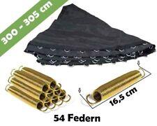 Trampolin Sprungmatte 305 für 54 V-Ringen und federn lange 16,5 cm   Sprungtuch