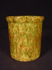 RARE ILLINOIS MORTON POTTERY BEATER JAR WOODLAND GLAZE YELLOW WARE MINT