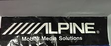 Alpine Car Audio Dealer Banner 2ftX7.5ft Impossible To Find Stereo Advertising