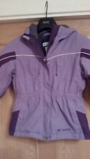 Colombia lilac used padded hooded jacket age 4/5 warm cosy clean