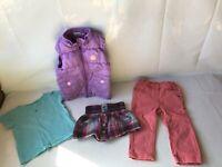 C&A Impidimpi Mädchen Set - Jeans, T-shirt, Weste, Rock - Gr.86/92 - TOP
