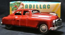 Vintage 1950's JAPAN Tin Toy RED CADILLAC - Gorgeous Car w/ Box -Box shows wear!