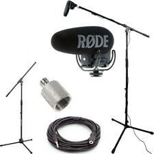 RODE VideoMic Pro+ w/ Rycote Studio Boom Kit - VMPR+, Boom Stand, Adapter, Cable