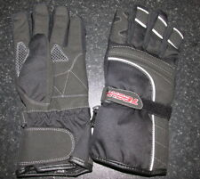 TECH7 EASY TEXTILE BREATHABLE HIPORA MOTORCYCLE MOTORBIKE GLOVES BLACK -T