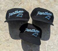 Vintage 1990s DS New Carolina Panthers Sports Specialties Script NFL Snapbacks