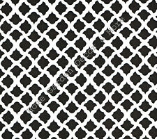 Talisman Black & White Vinyl Contact Paper Shelf Drawer Liner Peel Stick 4.5 ft