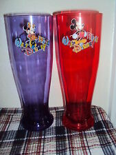 Cup Walt Disney World Red Mickey Mouse Purple Minnie Tall Plastic Drink Tumbler