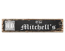 SP0481 The MITCHELL'S Family name Plate Sign Bar Store Cafe Home Chic Decor Gift