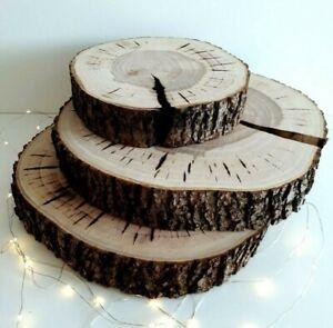 "1 Huge 5-21"" Wood Slice Rustic Wedding Table Craft Decor Natural log Cake stand"