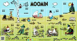 2021  JAPAN Moomin  84y 10 Complete  sheet  Unused