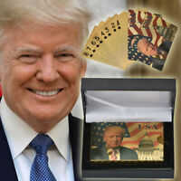 WR Donald Trump Presidential Gold Foil Playing Cards Poker Table Game + Gift Box