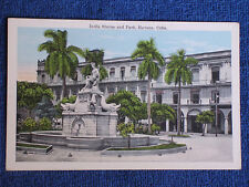 Havana Cuba/India Statue, Fountain and ParkPrinted Color Photo Postcard/Unposted