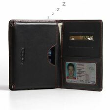 For BlackBerry Passport Pdair Leather Wallet Book Case Black, Red