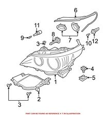 for bmw genuine headlight bulb cap front outer 63127187275