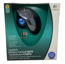 Logitech M570 Wireless Trackball Mouse w/ USB Receiver - In Box Used Tested