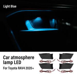 Light Blue Door Bowl Handle Atmosphere Light Interior LED For Toyota RAV4 2020+