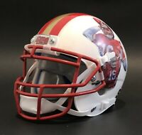 San Fransico 49er's JOE MONTANA Custom Art Schutt Football Mini Helmet *RARE*