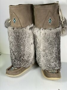 Womens Laurentian Chief Mukluk Tall Boots Grey