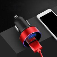 3.1A USB LED Car Cigarette Phone Charger Lighter Digital Voltmeter Accessories .