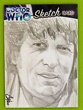 Dr Doctor Who Trilogy Sketch Card drawn by Cat Staggs - The 5th Doctor