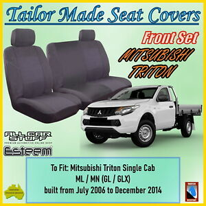 Tailor Made Seat Covers for Mitsubishi Triton Single Cab from 07/2006 to 12/2014