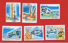 Laos #650-655 VF used  Space  Free S/H