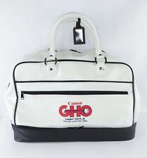 Vintage 80s Canon GHO Sammy Davis Jr Golf Open Handled Leather Weekender Bag