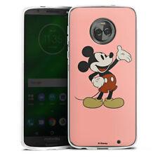 Lenovo MOTO g6 PLUS IN SILICONE GUSCIO Case Cellulare-Happy MICKEY