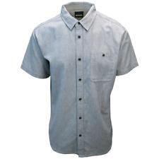 prAna Men's Light Indigo Blue Jaffra S/S Woven Shirt (S10)