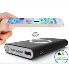 CARICABATTERIA Qi WIRELESS  10000 mAh  Powerbank Cellulare  2in1 Type C  Iphone