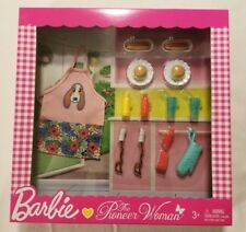 Barbie The Pioneer Woman Barbecue BBQ Grilling Accessory Playset Mattel NIB New