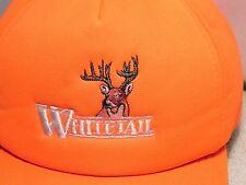 Whitetail Buck Deer Hunting Orange Snapback Cap Hat Trucker Foam