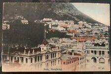 1919 Hong Kong Picture Postcard Cover To Catholic Mission Daegu Korea Peak View