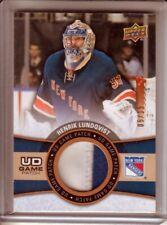 2015-16 Upper Deck Game Patches #HL Henrik Lundqvist /15 - New York Rangers