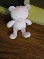 """RETIRED MOTHERCARE PINK TEDDY BEAR COMFORTER SOFT TOY 7"""" APPROX"""
