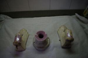 Vintage Porcelain Ceramic Bathroom Light Fixtures LAVENDAR FOR RESTORATION