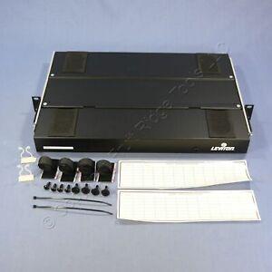 Leviton 24-Port 1RU Unloaded SC ST Fiber Optic Patch Panel Rack Mount 5P330-AA